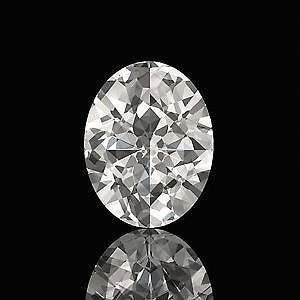 GIA CERT 0.4 CTW OVAL DIAMOND J/SI1