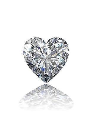 GIA CERT 0.4 CTW HEART DIAMOND E/VS1