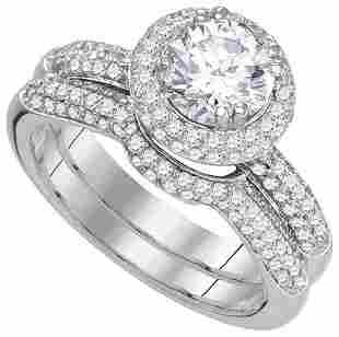 14KT White Gold 1.85CTW DIAMOND 1.00CTW-CRD BRIDAL RING