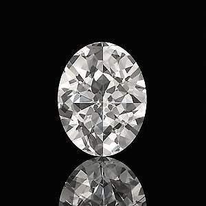 GIA CERT 0.72 CTW OVAL DIAMOND D/SI1