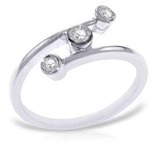 Platinum Plated Sterling Silver Ring with0.30 Carat Nat