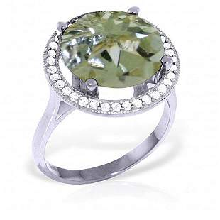 5.2 Carat Platinum Plated Sterling Silver Ring Natural