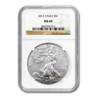 2012 Silver American Eagle MS-69 NGC