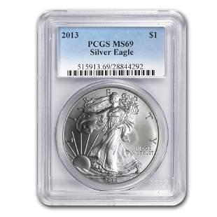 2013 Silver American Eagle MS-69 PCGS