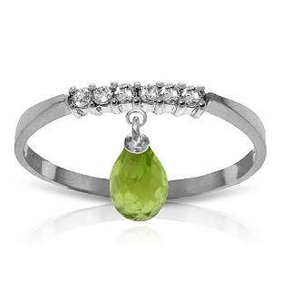 1.45 Carat Platinum Plated Sterling Silver Ring Natural