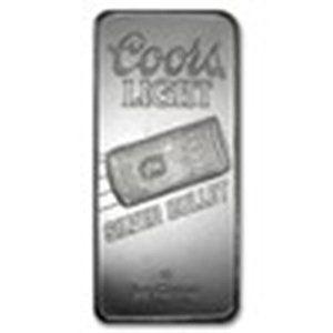 10 oz Silver Bar - Coors Light Silver Bullet