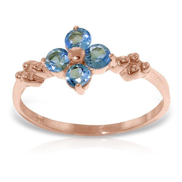 14K Rose Gold Audible Blue Topaz Ring