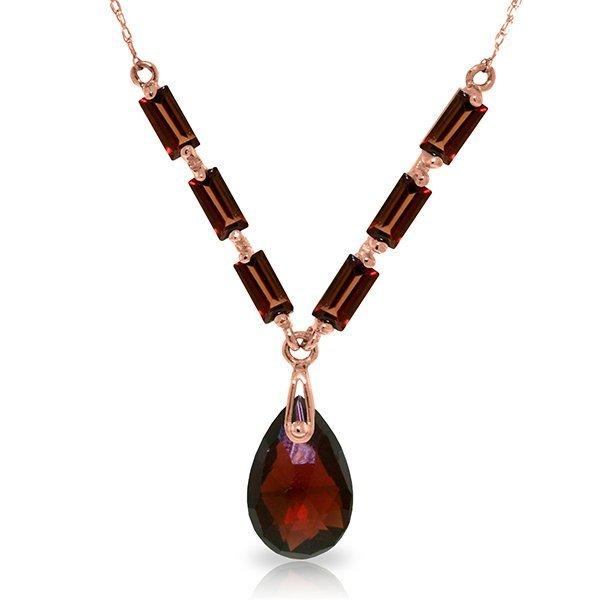 14K Rose Gold Belong to You Garnet Necklace