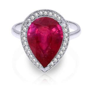 5.51 Carat Platinum Plated Sterling Silver Lana Ruby Di