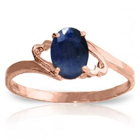 14k Rose Gold Rings With Sapphire