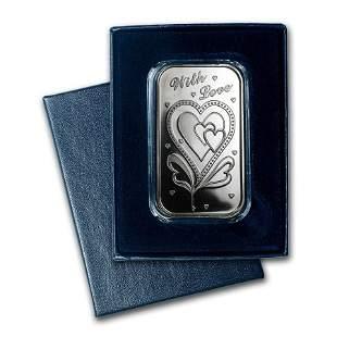 1 oz Silver Bar - With Love (w/Box & Capsule)