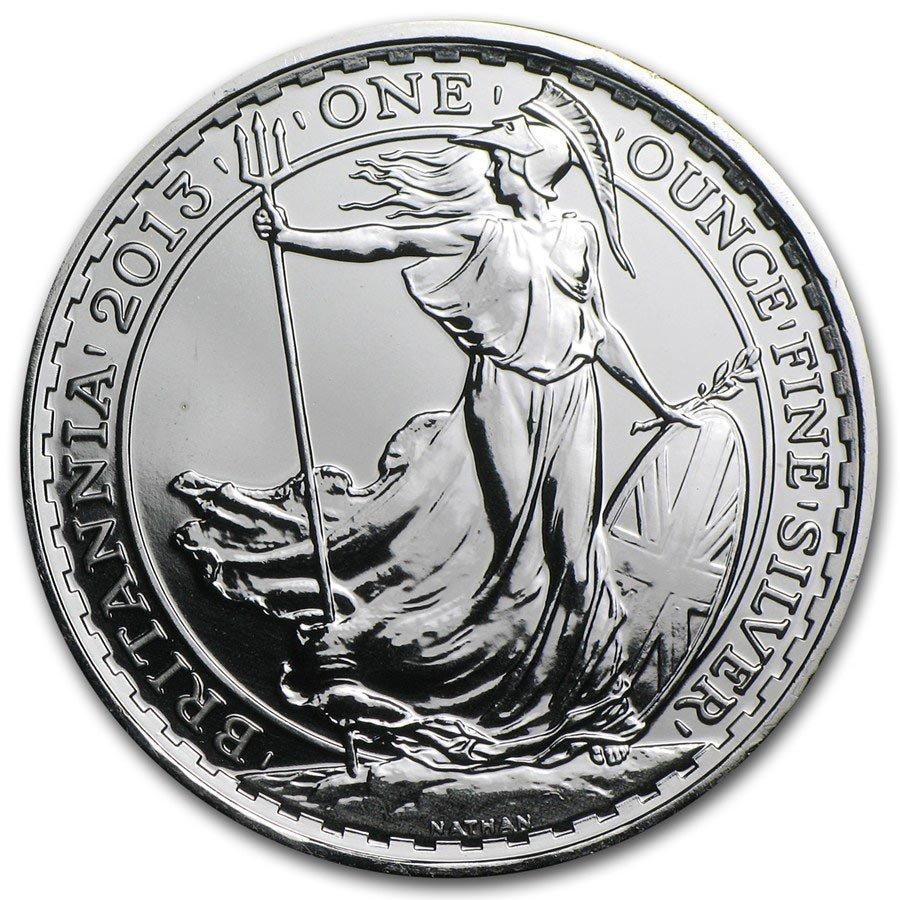 2013 1 oz Silver Britannia BU (w/Year of the Snake Priv
