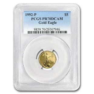 1992-P 1/10 oz Prf Gold American Eagle PR-70 PCGS (Regi