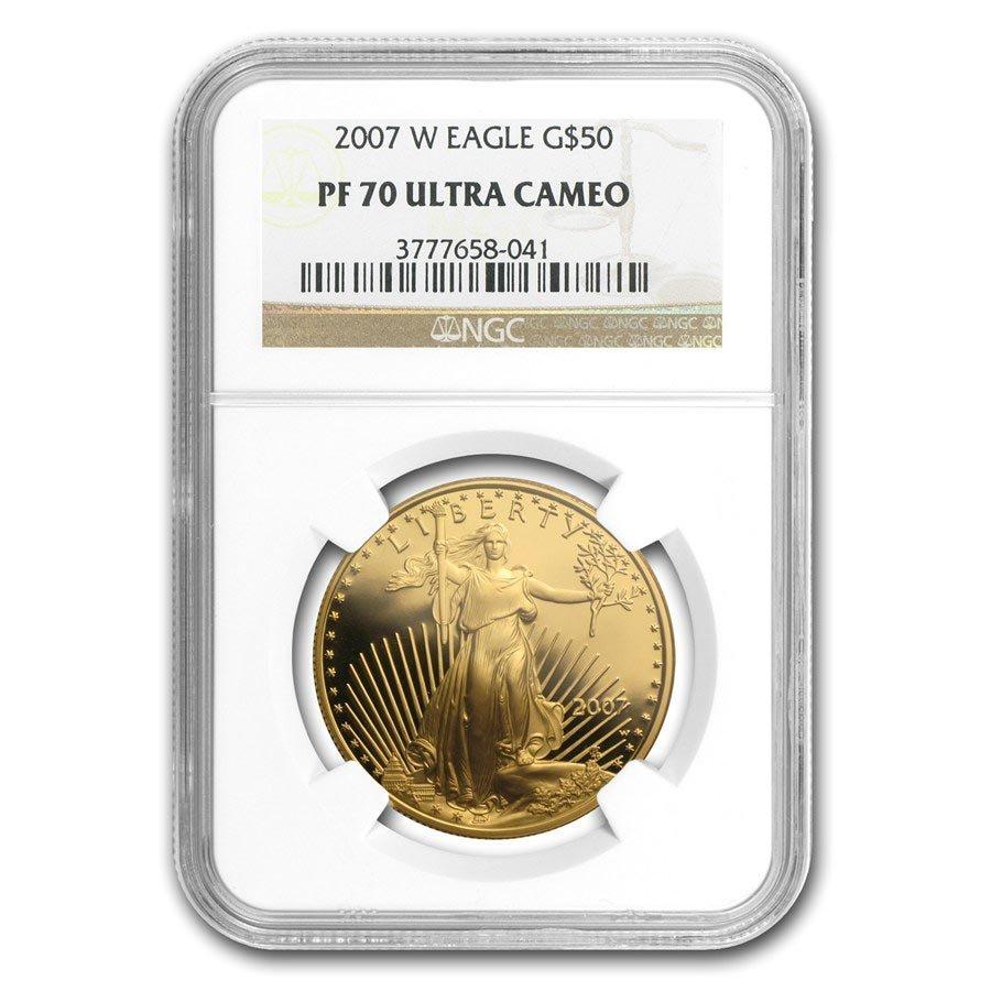 2007-W 1 oz Proof Gold American Eagle PF-70 NGC