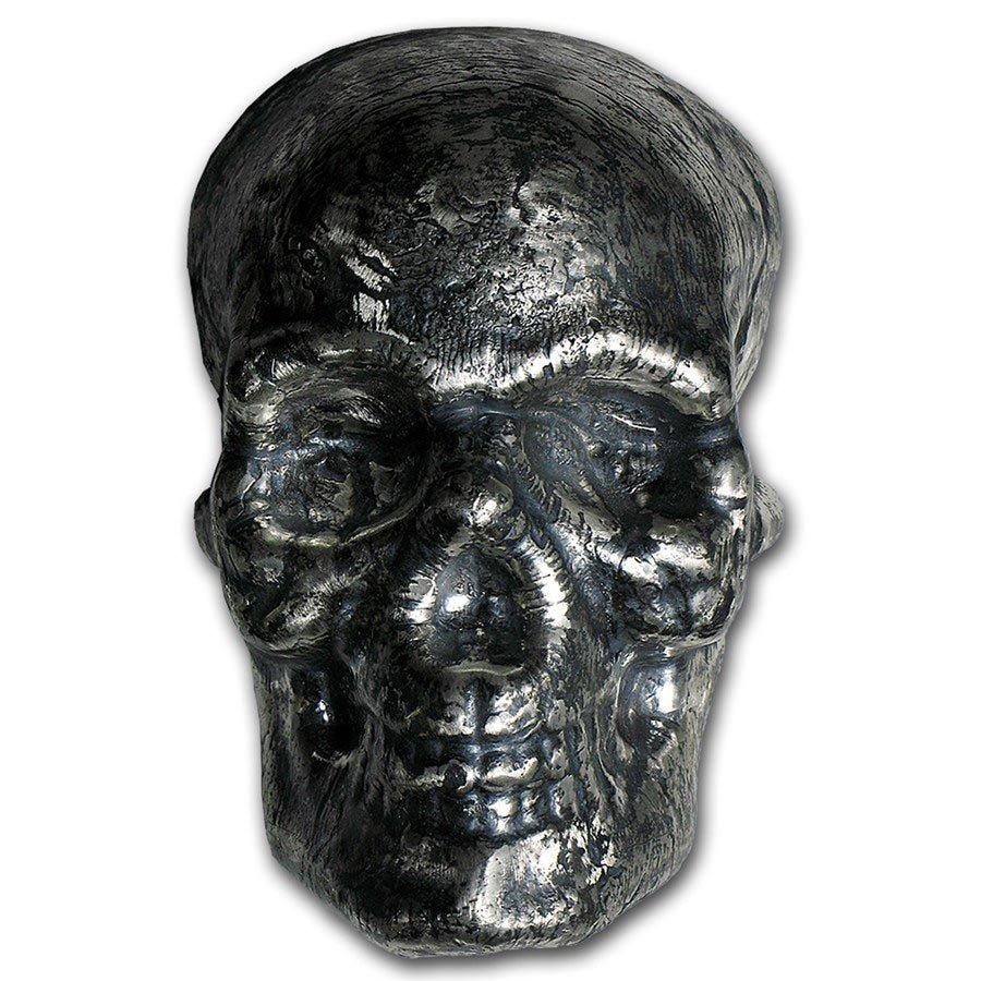 1 kilo Silver - MK Barz & Bullion (3D Skull)