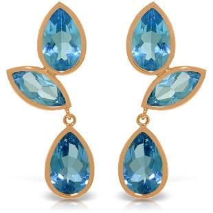 14K Rose Gold Alexandra Blue Topaz Earrings