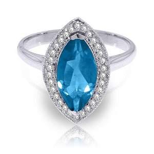 2.4 Carat Platinum Plated Sterling Silver Ring Diamond