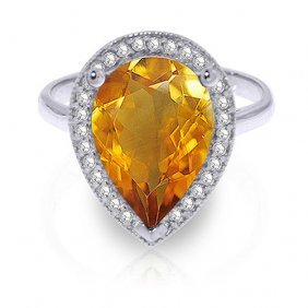 3.41 Ctw Platinum Plated Sterling Silver Lana Citrine D