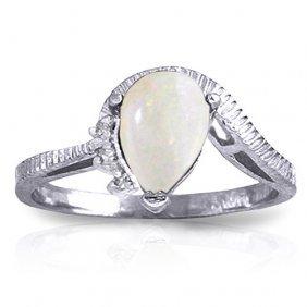 0.79 Carat Platinum Plated Sterling Silver Azur Opal Di