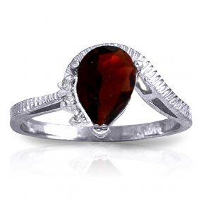1.52 Ctw Platinum Plated Sterling Silver Azur Garnet Di