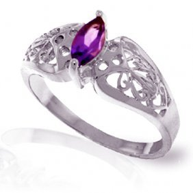 0.2 Ctw Platinum Plated Sterling Silver Filigree Ring N