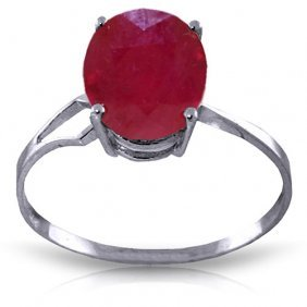 3.5 Ctw Platinum Plated Sterling Silver Opulence Ruby R