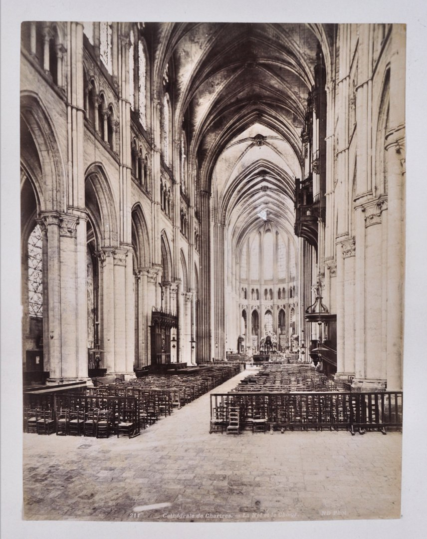 Interior of a European Cathedral. ca. 1880.