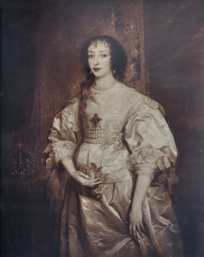 Albumen Portrait of a Pregnant Queen, ca. 1890.