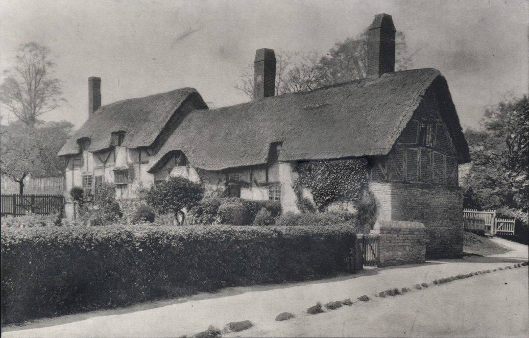 Thatched Roof House & Hedgerow, ca. 1880.