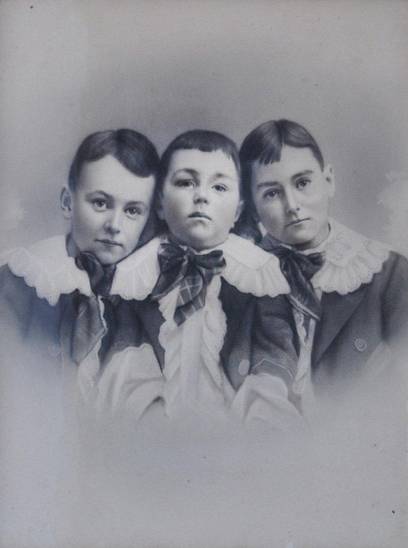 Enigmatic Portrait of Victorian Children. c 1880.