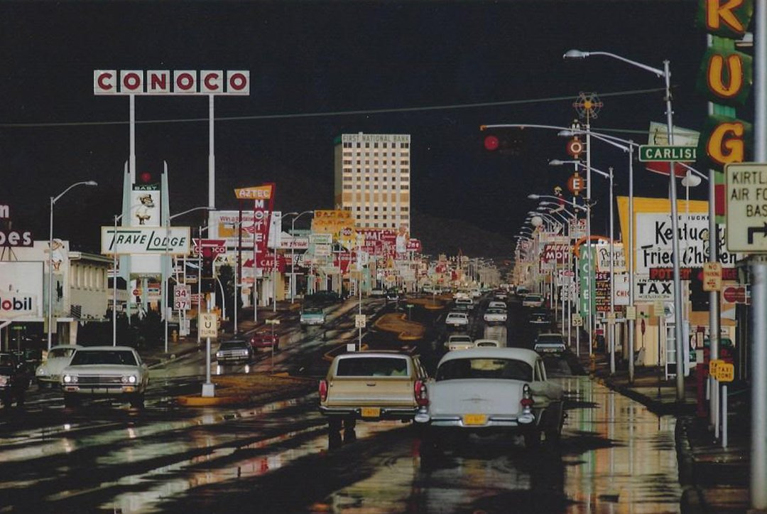 Ernst Haas, Route 66 Albuquerque, New Mexico 1969