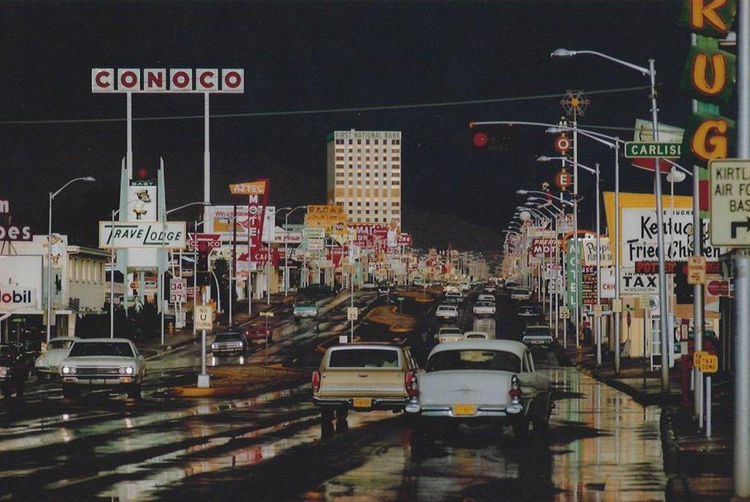 Ernst Haas, Route 66 Albuquerque, New Mexico 1969
