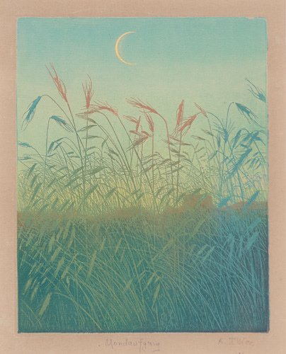 2: Arthur Illies (German, 1870-1953) Mondaufgang, ca. 1