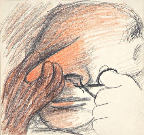 21: Lee Lozano (American, 1930-1999) Untitled, ca. 1962