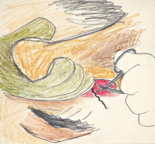 22: Lee Lozano (American, 1930-1999) Untitled, ca. 1962