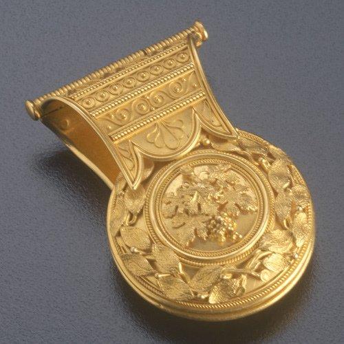 14: Italian Etruscan Revival bulla, souvenir of the Gra
