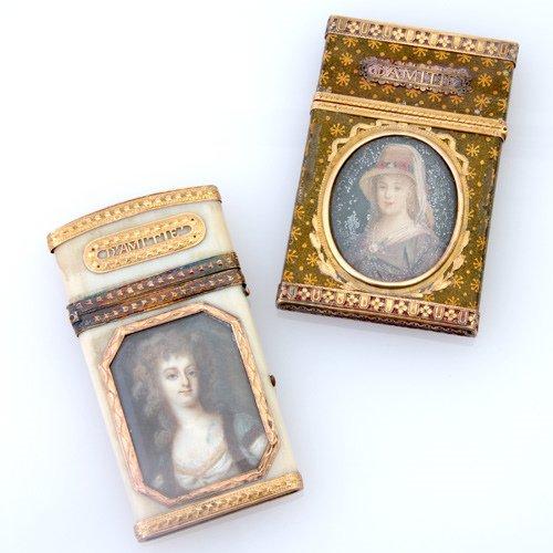 85: Two 18th C. Souvenirs D'Amiti'