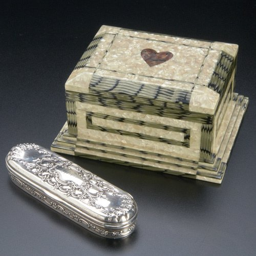 91: Two jewelry boxes: a Tiffany & Co. Makers sterling