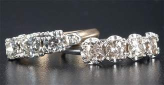 139: Two diamond rings, early 20th C.: an 18k wg Jabel