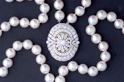 410 Double strand Japanese akoya pearl necklace
