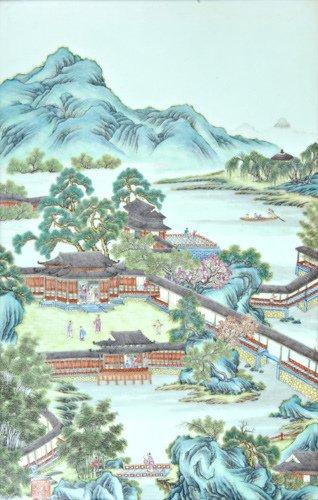 1001: CHINESE PORCELAIN Rectangular plaque