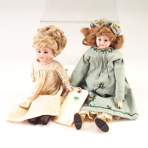 4: Two dolls: AM Mabel (Germany) bisque head doll, with