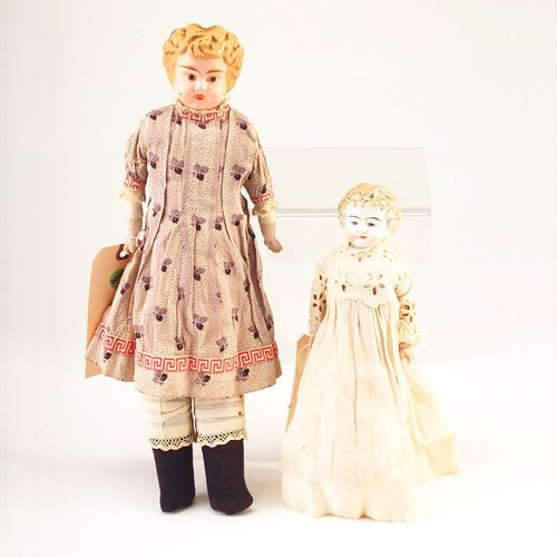 6: Two dolls: Parian-type 136/2/ON, with painted featur