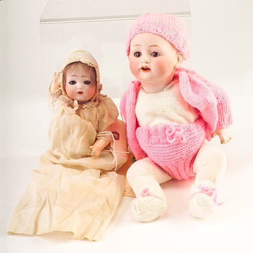 7: Two dolls: Morimura Bros. (Japanese) doll with sleep
