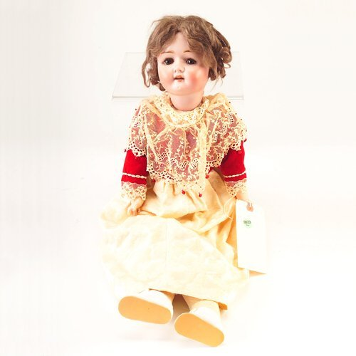 23: German doll marked 120/10 GERMANY, with original br
