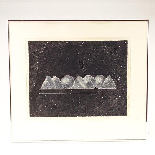 "351: John Willenbecher (American, b. 1936), ""The Table"