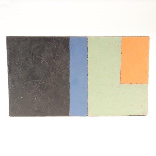 """352: Rob Moore, Untitled, 1984, oil on masonite, 9 3/4"""""""