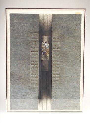 "354: Harel Kedem ""Bach's Studio,"" 1979, oil and graphit"
