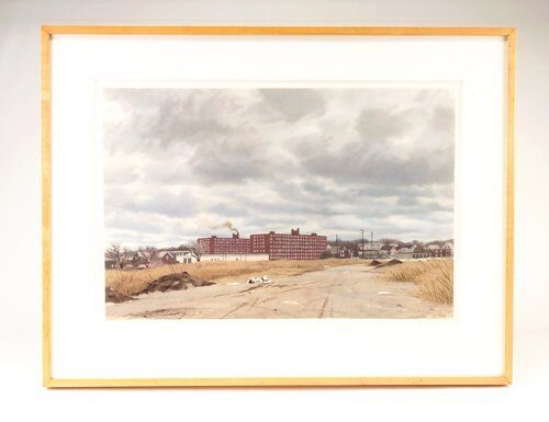 """368: David Campbell, """"View in North Cambridge,"""" waterco"""