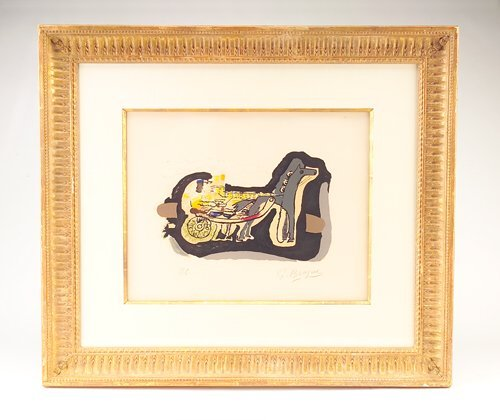 """371: Georges Braque (French, 1881-1963) """"Gelinotte,"""" co"""